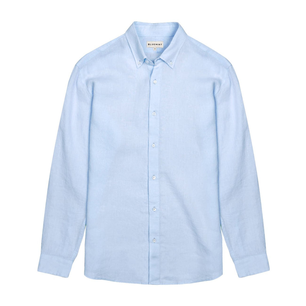 Martin Linen Shirt-Ice Blue