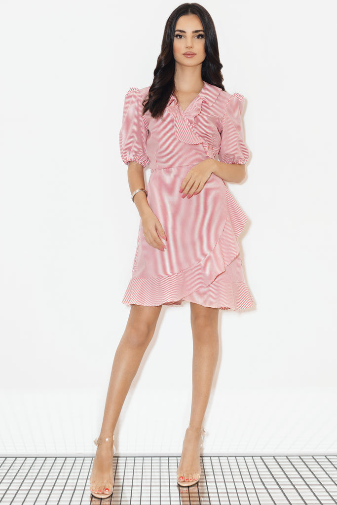 Out of office wrap dress
