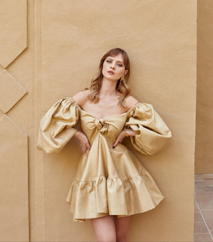 Sahar Gold Mini Dress