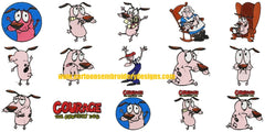 Courage The Cowardly Dog Characters Embroidery Machine Designs