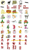 HALLOWEEN TRICK OR TREAT Embroidery Machine Designs - SET OF 50