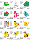 POKEMON CHARACTER  EMBROIDERY MACHINE DESIGNS SET OF 140