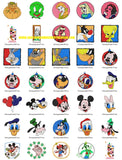 DISNEY CARTOON CHARACTERS PORTRAITS MICKEY MINNIE DONALD TWEETY GOOFY MORE  Embroidery Designs  SET OF - 64
