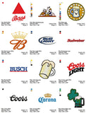 BEER LOGOS EMBROIDERY MACHINE DESIGNS SET OF 20