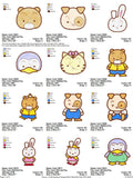 HELLO  KITTY  CARTOON CHARACTER EMBROIDERY MACHINE DESIGNS