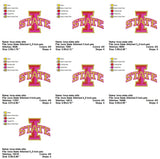 Iowa State Cyclones FOOTBALL LOGOS EMBROIDERY MACHINE DESIGNS