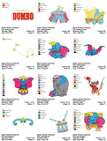 DUMBO CARTOON CHARACTER EMBROIDERY MACHINE DESIGNS