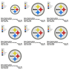 The Pittsburgh Steelers Football Sports Team EMBROIDERY MACHINE DESIGNS