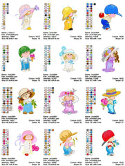 Morehead Angels Embroidery Machine Designs - Set of 42