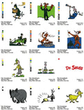 DR SEUSS CARTOON CHARACTER EMBROIDERY MACHINE DESIGNS