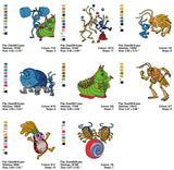 BUGS LIFE CARTOON CHARACTER EMBROIDERY MACHINE DESIGNS