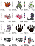 ARISTOCATS Embroidery Machine Designs - Set of 34
