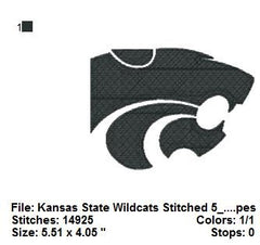 Kansas State Wildcats FOOTBALL Teams LOGOS EMBROIDERY MACHINE DESIGNS