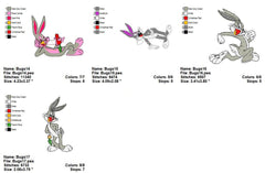 BUGS BUNNY CARTOON EMBROIDERY MACHINE DESIGNS