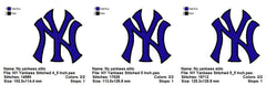 NY YANKEES NEW YORK BASEBALL EMBROIDERY MACHINE DESIGNS