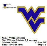 The West Virginia Mountaineers football team EMBROIDERY MACHINE DESIGNS