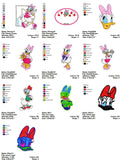 DAISY DUCK DISNEY CHARACTER EMBROIDERY MACHINE DESIGNS