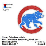 Chicago Bears with C Football  LOGOS EMBROIDERY MACHINE DESIGNS
