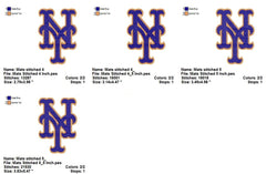 New York Mets Baseball EMBROIDERY MACHINE DESIGNS