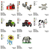 FARM ANIMALS JOHN DEERE TRACTORS COWBOYS ETC  EMBROIDERY MACHINE DESIGNS