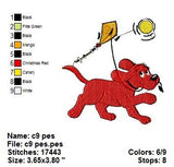 Clifford the Big Red Dog MACHINE EMBROIDERY DESIGNS