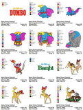 CLASSIC Disney Character CUTE EMBROIDERY MACHINE DESIGNS
