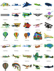 AVIATION AIR PLANES HELICOPTERS Embroidery Designs