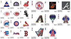 ALL BASEBALL MLB EMBROIDERY MACHINE DESIGNS