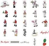 BON APPETIT Machine Embroidery Designs  - Collection Set of 25