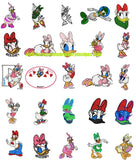 DAISY DUCK Disney Characters Embroidery Designs  - 25 Adorable Set