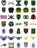 MILITARY ARMY MARINES NAVY NATIONAL GUARD AMERICAN USA Embroidery Machine Designs
