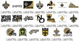 New Orleans Saints Logo Team Embroidery Machine Designs Set of 20