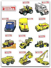 TONKA TOY TRUCKS MACHINE EMBROIDERY DESIGNS