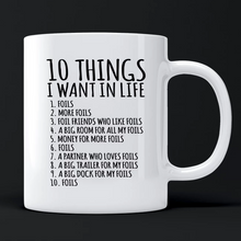 Load image into Gallery viewer, '10 Things' FOILS Coffee Mug + T-Shirt Combo: FREE Merch Included!!