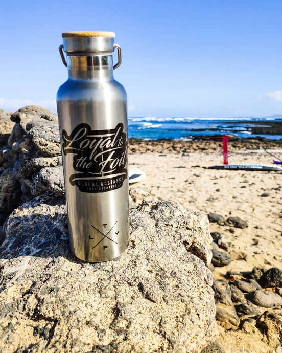 #Loyal To The Foil 'Plastic Sucks' - Stainless Steel Water Bottle + T-Shirt Combo - FREE LANYARD INCLUDED!