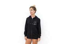 Load image into Gallery viewer, Unisex Zip Hoodie 'Loyal To The Foil' - Black - FREE MERCH INCLUDED!