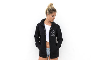 Unisex Zip Hoodie 'Loyal To The Foil' - Black - FREE MERCH INCLUDED!