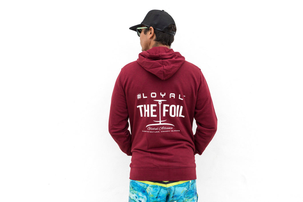 Zip Hoodie 'Loyal To The Foil' - Burgundy - FREE MERCH INCLUDED!