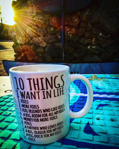 '10 Things' FOILS Coffee Mug + T-Shirt Combo: FREE Merch Included!!