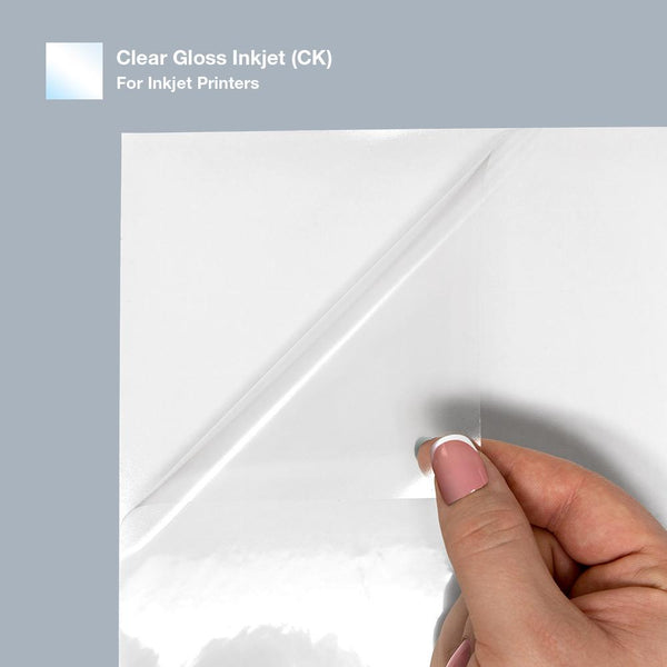 Premium - Gloss Clear - Sticker Paper for Inkjet Printers