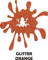 Orange Glitter - Heat Transfer Vinyl Sheets