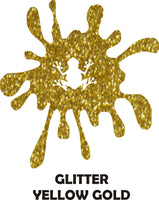 Yellow Gold Glitter - Heat Transfer Vinyl Sheets