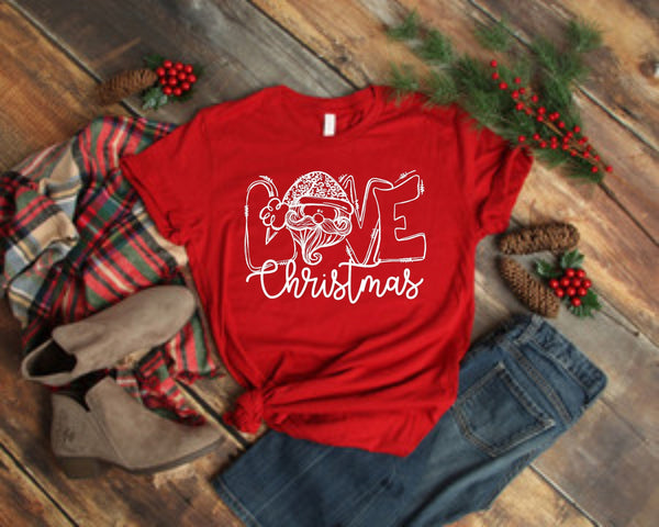 Kids & Adults - Santa Love - Screen Print Transfers for Cotton and All Colors