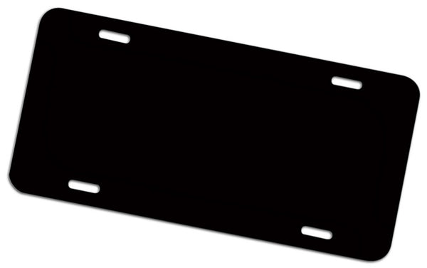 Black/White - Aluminum Metal License Plate Blanks