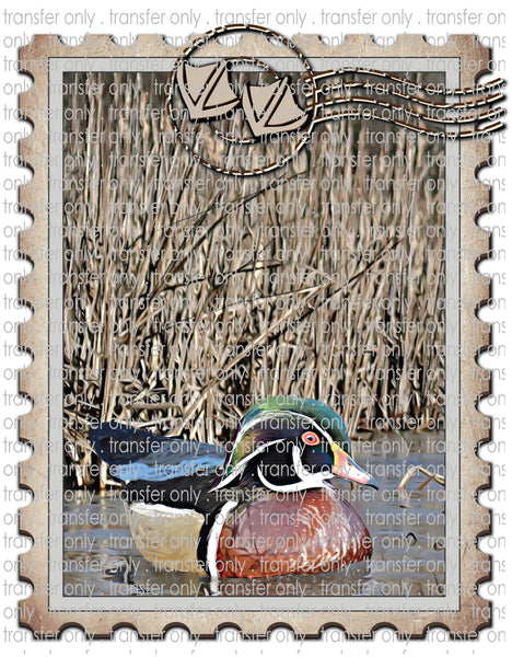 Hunting Duck Stamp - Waterslide, Sublimation & Multi-Surface Transfers
