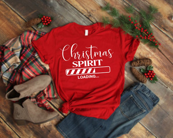 Christmas Spirit Loading - Screen Print Transfers for Cotton and All Colors