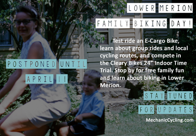 Lower Merion Family Biking Day: Postponed