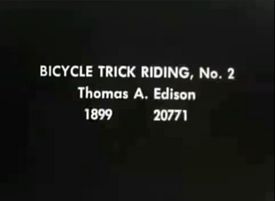 History : Is this the First Bicycle Trick Tape?