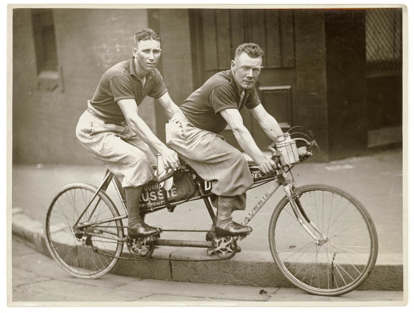 Men on Tandem Bicycle