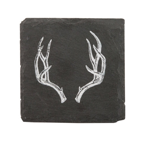 Antler Slate Coasters by twine - Coasters - Uncle Whiskey - Uncle Whiskey